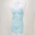 送料無料!bd_0013 -sexy babydolls in lace-水色のレースのベビードール&Tバックセット