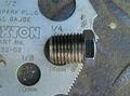1/4NPT(アメリカ管用テーパーネジ) パイププラグ クローム 薄い HEX
