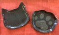 【青峰堂×薫陶土コラボ企画】猫フェイス&肉球の和菓子皿セット【ねこのきもち掲載!】