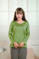 大人アトピー 服がくっつく悪化を防ぐ シルク100%長袖杢丸首 カットソー 2016年版