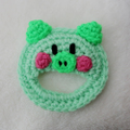 編みおもちゃ(Greenぶた)