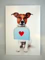 ポストカードdog in love