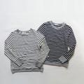 シエスタコットン×ウールボーダー クルーネック切替Tシャツ 1822550 日本製 SORTE ソルテ