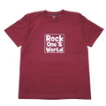 ROCK ONE'S WORLD ロックワンズワールド SQUARE LOGO TEE-BURGUNDY-