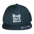 ROCK ONE'S WORLD ロックワンズワールド LOGO SNAPBACK CAP-FOREST GREEN-