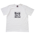 ROCK ONE'S WORLD ロックワンズワールド SQUARE LOGO TEE-WHITE/BLACK-