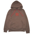 ROCK ONE'S WORLD ロックワンズワールド SQUARE LOGO embroidery HOODIE