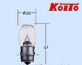 6V15W シングル T19 P15s-25-1 Koito 5150