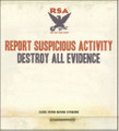 """Report Suspicious Activity""""Destroy All Evidence""""(Alternative Tentacles)CD"""