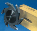 木村刃物 木工用出丸カッター(U溝カッター) 4.5mmR付き 昇降盤用