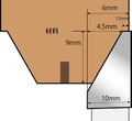 片きちょう面カッター 2分(見込み)x3分(見付け)用 昇降盤用
