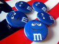M&M'S 缶バッジ~BLUE~