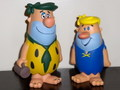 THE FLINTSTONES~FRED(GREEN HAIR) & BARNEY(YELLOW HAIR)~(FUNKO CARTOON CLASSICS)2008 FUNKO FUN DAYS EXCLUSIVE