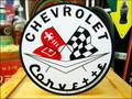 ROUND SIGN PLATE~CHEVROLET Corvette~