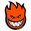 SPITFIRE WHEELS BIGHEAD STICKER~ORANGE~