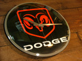 BUBBLE DOME GLASS WALL CLOCK ~DODGE~