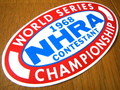 RACING STICKER~NHRA 1968 WORLD SERIES~