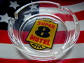 ROUND ASHTRAY ~SUPER 8 MOTEL~