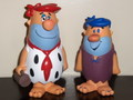 THE FLINTSTONES~FRED(RED HAIR) & BARNEY(BLUE HAIR)~(FUNKO CARTOON CLASSICS)2008 FUNKO PLATINAM CARD PRIZE
