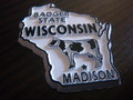 U.S.A.STATE MAGNET~WISCONSIN~