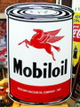 Mobiloil BIG SIGN PLATE~オイル缶~