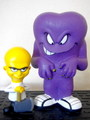 LOONEY TUNES~MAD SCIENTIST(YELLOW) & GOSSAMER(PURPLE)~(FUNKO CARTOON CLASSICS)2008 FUNKO FUN DAYS EXCLUSIVE