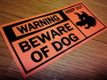 U.S. PUBLIC SIGN STICKER(猛犬注意)