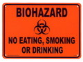 PLASTIC SIGN BOARD~BIOHAZARD~