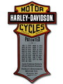 HARLEY-DAVIDSON TIN SIGN~PATENTED~