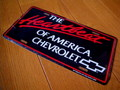 CHEVROLET コマーシャルプレート~THE HEARTBEAT OF AMERICA~B