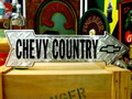 LONG STREET SIGN PLATE~CHEVY COUNTRY~