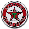 ROUND TIN SIGN~TEXACO~
