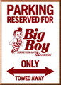 BIG BOY WOODEN PARKING BOARD