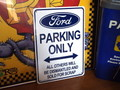 PLASTIC SIGN BOARD~FORD PARKING ONLY~