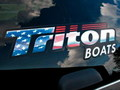 Triton BOATS FLAG DECAL