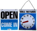 OPEN/CLOSED CLOCK SIGN~A~