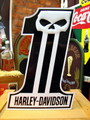 HARLEY-DAVIDSON TIN SIGN~SKULL~