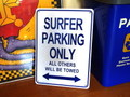 PLASTIC SIGN BOARD~SURFER PARKING ONLY~