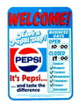 PEPSI PLASTIC SIGN BOARD~WELCOME~