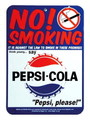 PEPSI PLASTIC SIGN BOARD~NO SMOKING~
