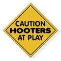 HOOTERS PLASTIC PLATE