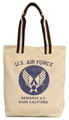 U.S.AIR FORCE PRINT TOTE BAG~BEIGE~