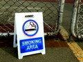 REVERSIBLE ROAD SIGN~SMOKING/NO SMOKING~