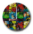 MARVEL HEROES GLASS WALL CLOCK