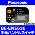 Panasonic BE-ENE636用 ハンドル手元スイッチ【黒:エコナビ液晶スイッチ3】【即納】