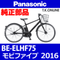 Panasonic BE-ELHF75用 ホイールマグネットセット(前輪スピードセンサー用)【即納】