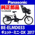 Panasonic BE-ELMD033用 スピードセンサー・ホイールマグネット・防護ガードセット