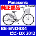 Panasonic BE-END634用 後輪用スプロケット 22T+Cリング+防水カバー