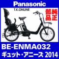 Panasonic BE-ENMA032用 スポーク&ニップルセット(前輪用:36本)