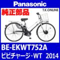 Panasonic ビビチャージ・WT (2014.06) BE-EKWT752A 純正部品・互換部品【調査・見積作成】